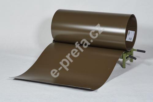 PREFA clr plech ve svitku 0,7 x 1000mm - Vojenská hnědá - khaki/Vojenská hnědá - khaki+folie