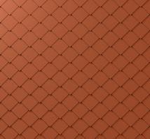 PREFA fasádní šablona 29x29, povrch stucco, Cihlově červená P.10