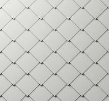 PREFA fasádní šablona 44 x 44 - stucco - Přírodní hliník P.10
