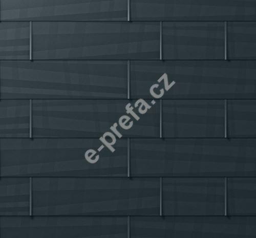 PREFA střešní panel fx.12, 1400 x 420 mm velký hladký, Černá P.10