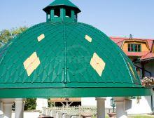 PREFA věžovka stucco, 305 x 175 mm, Mechově zelená P.10