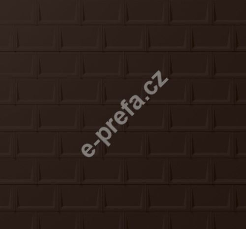 PREFA střešní panel r.16, 700 x 420 mm stucco, Oříšková P.10
