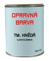 PREFA opravná barva 0,75 l - Tmavě hnědá / vlastní barva