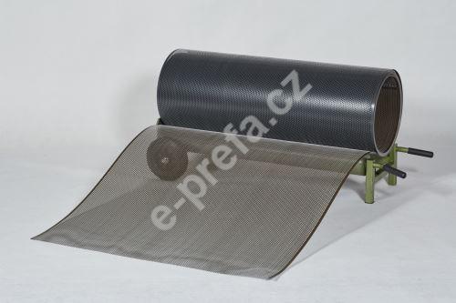 PREFA Prefalz děrovaný plech ve svitku 0,70 x 1000 mm - Antracit / Tmavě hnědá
