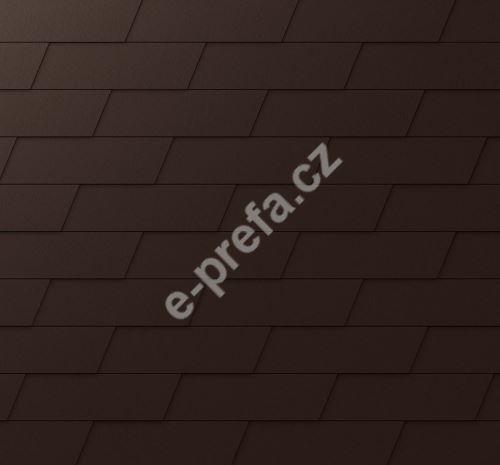 PREFA fasádní šindel xl, povrch stucco, Oříšková P.10