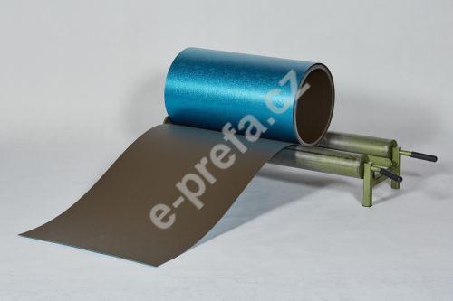 PREFA hliníkový plech Prefalz 0,70 x 650 mm Vojenská hnědá - khaki P.10 stucco