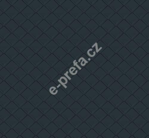 PREFA falcovaná šablona, povrch stucco, Antracit P.10