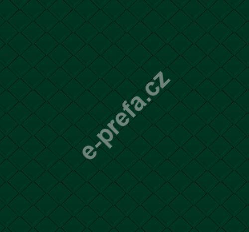 PREFA falcovaná šablona 29x29, povrch stucco, Mechově zelená P.10