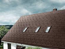 PREFA střešní panel R.16 700 x 420 mm - stucco - Oříšková P.10