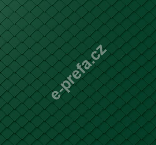 PREFA fasádní šablona malá 20x20, povrch stucco, Mechově zelená P.10