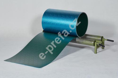 PREFA hliníkový plech Prefalz 0,70 x 1000 mm, stucco, Mechově zelená