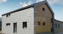 PREFA fasádní panel fx.12 malý, povrch hladký, Světle šedá P.10