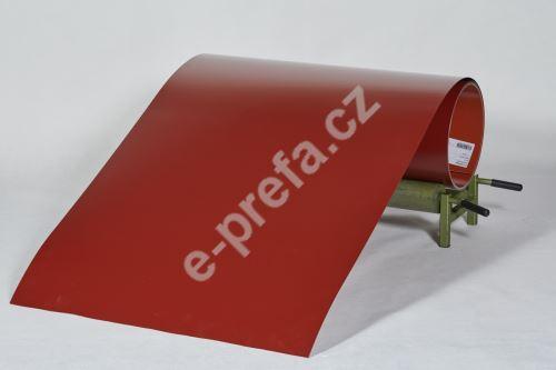 PREFA clr plech ve svitku 0,7 x 1000mm + folie, Tmavě červená/Tmavě červená